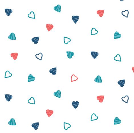 Graffiti Hearts fabric by twix on Spoonflower - custom fabric