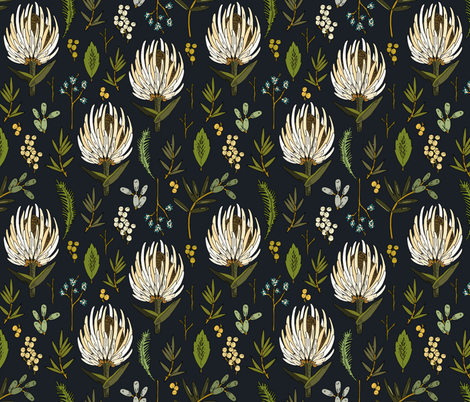 protea_neutral fabric by holli_zollinger on Spoonflower - custom fabric