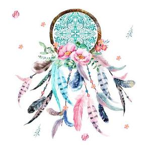 12 Pink Aqua Dreamcatcher