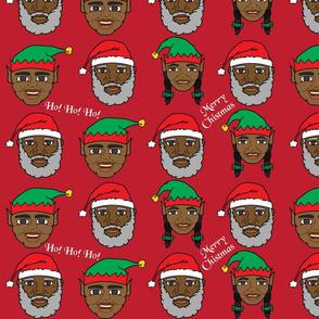 Black Santa and Elves