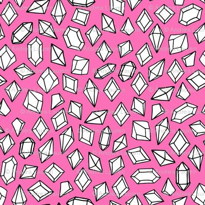 crystals // gems gemstones gem pink fabric geodes pink girls design andrea lauren fabric
