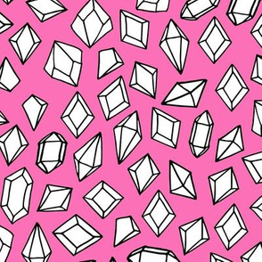 crystals // gems gemstones gem pink fabric geodes pink girls design andrea lauren fabric