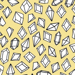 crystals // gems gemstones yellow pastel fabric kids gemstones fabric