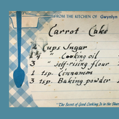 Aunt Nena's Carrot Cake Tea Towel