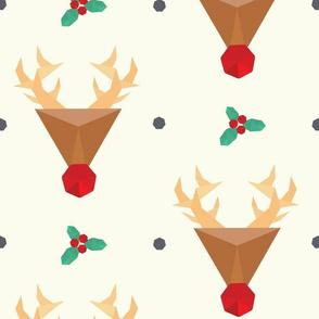 Geometric Reindeer Pattern