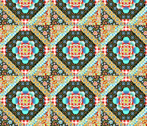 Bricolage Patchwork fabric by patriciasheadesigns on Spoonflower - custom fabric