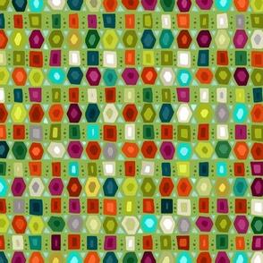 hex strip green half size