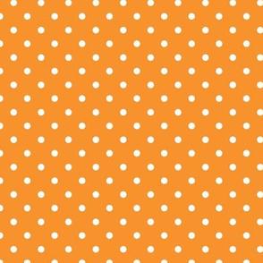 Polka Dot - White on Orange