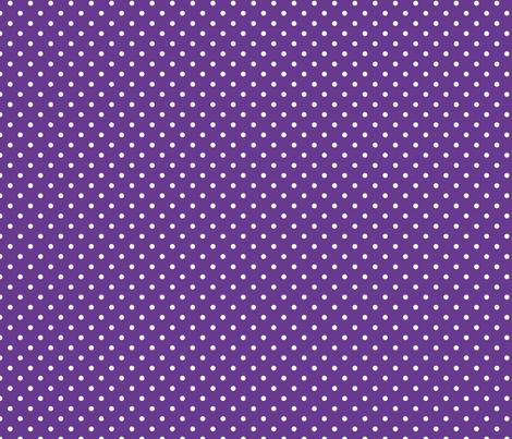 Polka Dot - White on Purple fabric by anniemathews on Spoonflower - custom fabric