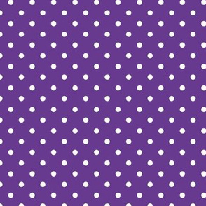 Polka Dot - White on Purple