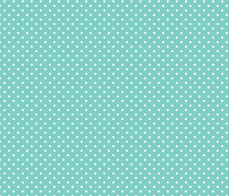 Polka Dot - White on Duck Egg Blue fabric by anniemathews on Spoonflower - custom fabric