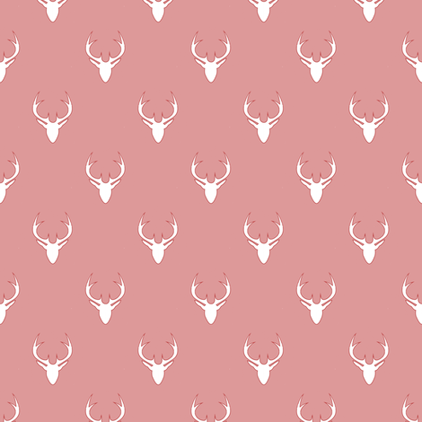white deer on light pink fabric by stofftoy on Spoonflower - custom fabric