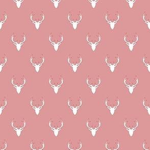 white deer on light pink
