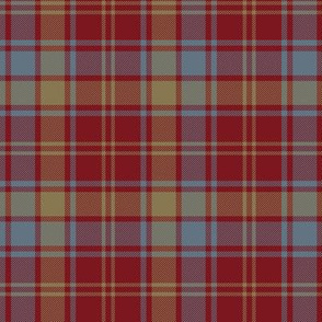 Robertson red weathered tartan - 7""