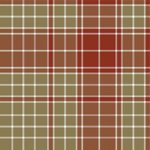 "Major James Fraser tartan, 10"" weathered"