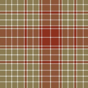 "Major James Fraser tartan, 7"" weathered"