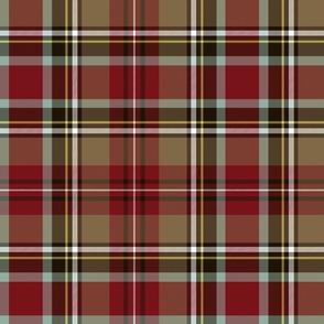 "Stewart / Stuart #1 weathered tartan, 12"""