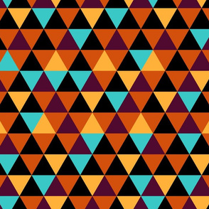 Small Equilateral Triangles (Bold Colors)