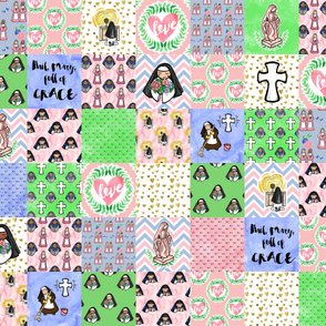 Sweet Sisters Cheater Quilt blanket patchwork