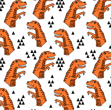 dinosaurs // dino trex t-rex tyrannosaurus rex fabric andrea lauren fabric by andrea_lauren on Spoonflower - custom fabric