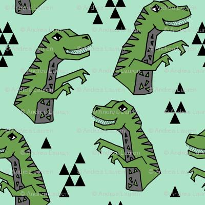 dinosaurs // dinosaurs t-rex tyrannosaurus rex fabric dino andrea lauren