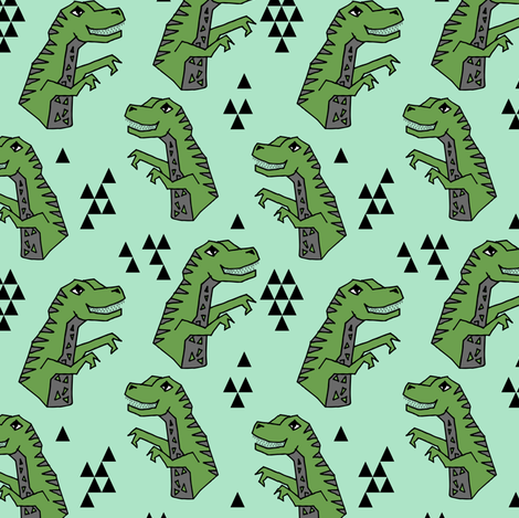 dinosaurs // dinosaurs t-rex tyrannosaurus rex fabric dino andrea lauren fabric by andrea_lauren on Spoonflower - custom fabric