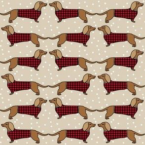 dachshund //sweater dogs doxie sweater fabric plaid sweaters doxie design