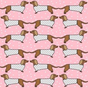 dachshunds // stripes sweater dog fabrics dog design doxies fabric andrea lauren design