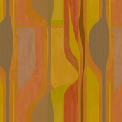 Midcentury plateau-orange-mustard