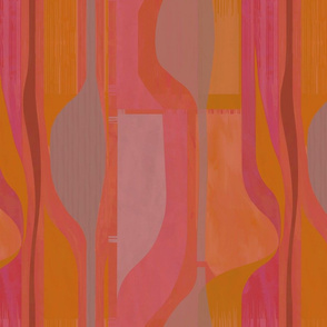 Midcentury-plateau-orange-pink