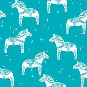 dala horse // turquoise dala horse scandi design andrea lauren fabric
