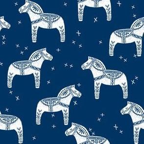 dala horse block print // block print linocut design andrea lauren fabric folk style print
