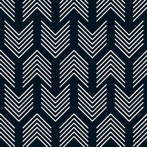 Feathers Arrow Chevron Black and White