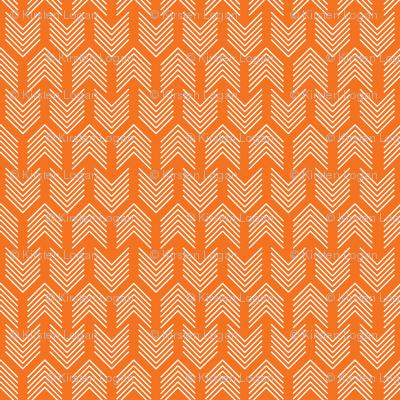 Feathers Arrow Chevron Orange and White