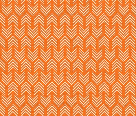 Feathers Arrow Chevron Orange and White fabric by khaus on Spoonflower - custom fabric