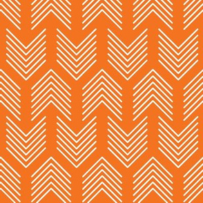 Feathers Arrow Chevron Orange and White