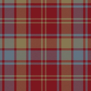 Robertson red weathered tartan - 10""