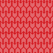 Feathers Arrow Chevron Red and White