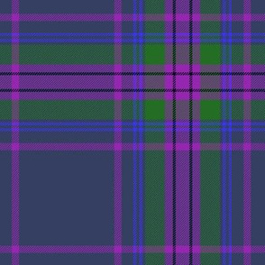 Spirit of Scotland tartan - grey 7""