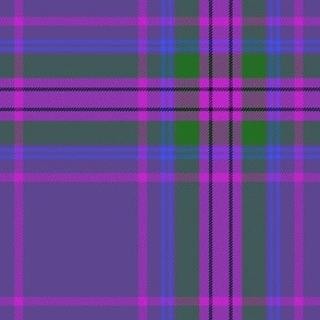 Spirit of Scotland tartan - purple 7""