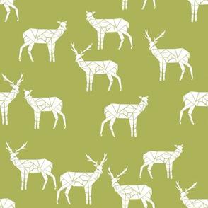 deer // lime green deer fabric baby nursery design andrea lauren fabric