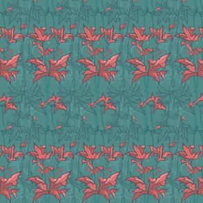 Scarlet Tropical Flowers
