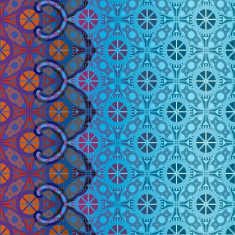 O-ren border gemstone palette fabric by keweenawchris on Spoonflower - custom fabric