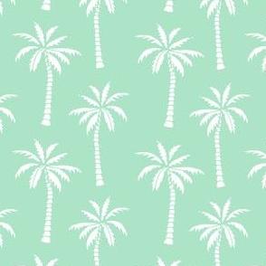 palm tree // palm tree fabric tropical mint fabric palm prints andrea lauren design andrea lauren fabric