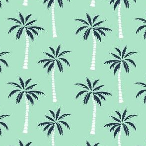 palm tree // mint and navy palms fabric andrea lauren design palm prints tropical andrea lauren
