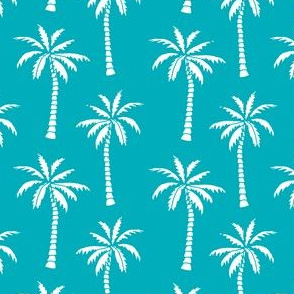 palm tree // turquoise palms print tropical palm print andrea lauren turquoise fabric