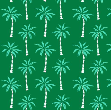 palm tree // green summer fabric cute summer 2017 summer tropical palms fabric  fabric by andrea_lauren on Spoonflower - custom fabric