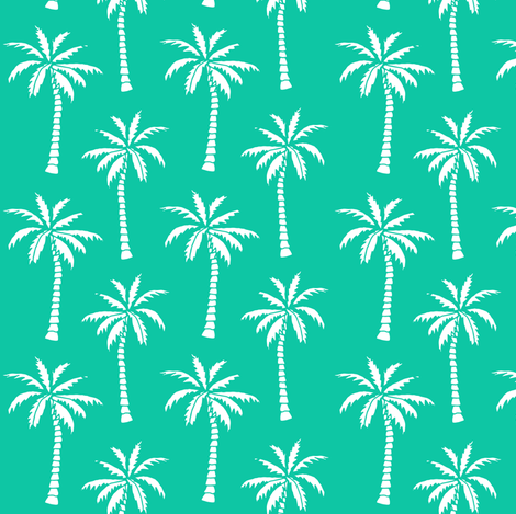 palm tree // bright green palms fabric palm tree fabric tropical palm prints fabric by andrea_lauren on Spoonflower - custom fabric