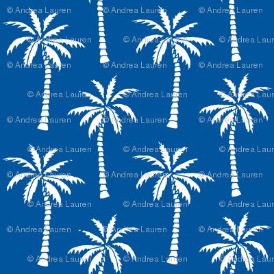 palm tree // palms fabric palm tree blue summer tropical palm fabric