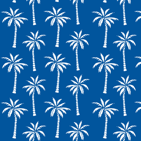 palm tree // palms fabric palm tree blue summer tropical palm fabric fabric by andrea_lauren on Spoonflower - custom fabric